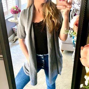SONOMA | Gray Knit Gray Duster Sweater w/ Pockets